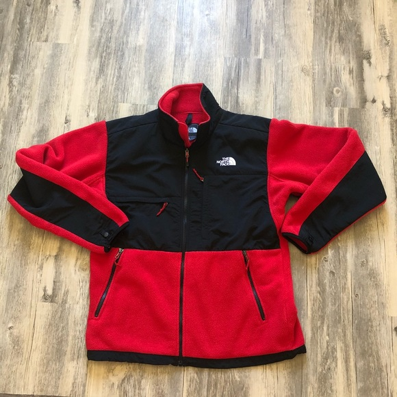 73241957e The North Face Men's Denali Jacket Red and Black